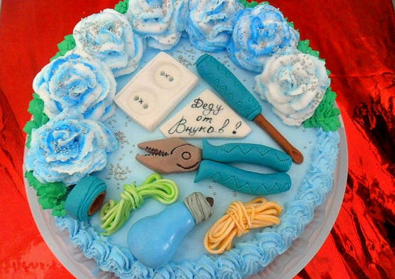 Торт на день рождения дедушки своими руками 12