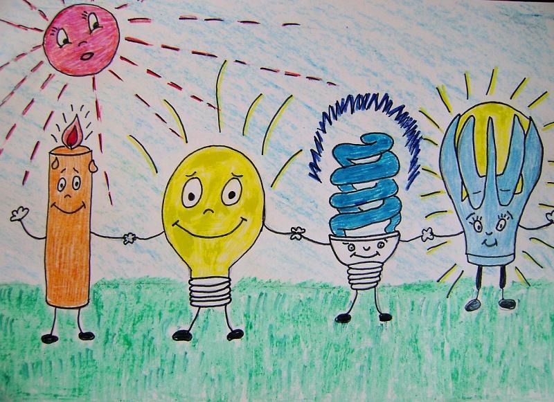 котором рисунок про энергию рисунки